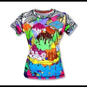 InkNBurn Sundae tech shirt, women's small